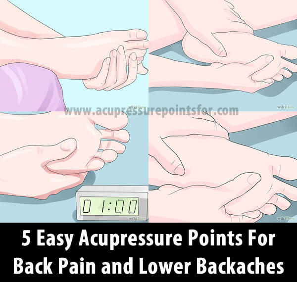 5 Easy Acupressure Points For Back Pain and Lower Backaches